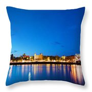 Tower Bridge In London Uk At Night Throw Pillow