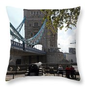 Tower Bridge In The City Of London Throw Pillow