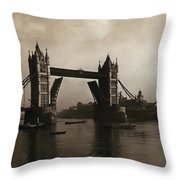 Tower Bridge London 1906 Throw Pillow