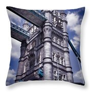 Tower Bridge London Throw Pillow by Mariola Bitner