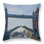 Tower Bridge Opened Throw Pillow