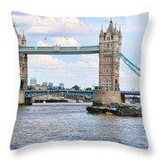 Tower Bridge Panorama Throw Pillow