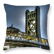 Tower Bridge Sacramento Throw Pillow