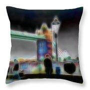 Tower Bridge Surrealism Throw Pillow