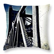 Tower Bridge - Throwback Throw Pillow