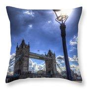 Tower Bridge View Throw Pillow