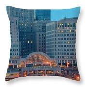 Tower City Throw Pillow