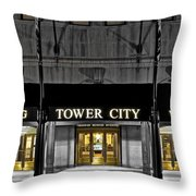 Tower City In Cleveland Ohio Throw Pillow