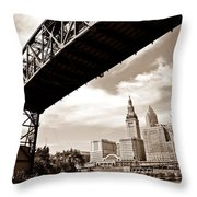Tower City Throw Pillow