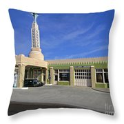 Tower Conoco Throw Pillow