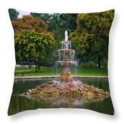 Tower Grove Fountain Throw Pillow