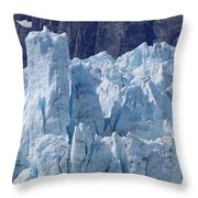 Tower In Margerie Glacier Throw Pillow