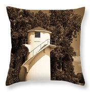 Tower In Sepia Throw Pillow
