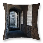 Tower In The Great Wall 695 Throw Pillow
