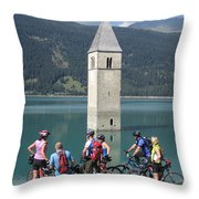 Tower In The Lake Throw Pillow