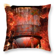Tower Inferno Throw Pillow