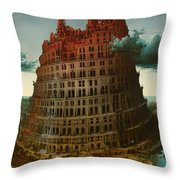 Tower Of Bable Throw Pillow