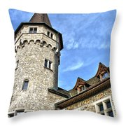 Tower Of History Throw Pillow