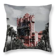 Tower Of Terror  In Color Throw Pillow
