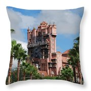 Tower Of Terror  Throw Pillow