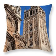 Tower Of The Seville Cathedral Throw Pillow