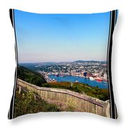 Tower Over The City Triptych Throw Pillow