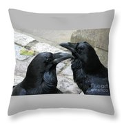 Tower Ravens Throw Pillow