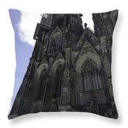 Tower Scaffolding Cologne Cathedral Throw Pillow