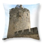 Tower Town Wall - Carcassonne Throw Pillow