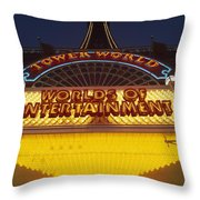 Tower World . Worlds Of Entertainment Throw Pillow