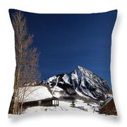 Towering Above Crested Butte Throw Pillow