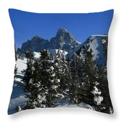 Towering Above Lies The Grand Throw Pillow