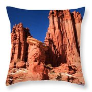 Towering Above The Hoodoo Throw Pillow
