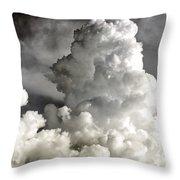 Towering Clouds Throw Pillow