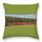 Towering Evergreens Throw Pillow