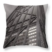 Towering John Handcock Building Throw Pillow