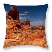 Towering Red Rocks Throw Pillow