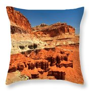 Towers Along The Waterpocket Throw Pillow