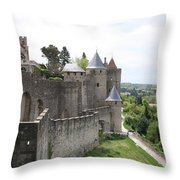 Towers And Townwall  - Carcassonne Throw Pillow