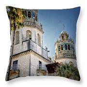 Towers At Hearst Castle - California Throw Pillow