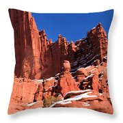Towers In The Sky Throw Pillow