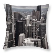 Towers Of Chicago Throw Pillow