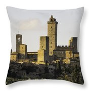 Towers Of San Gimignano Throw Pillow