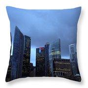 Towers Of Singapore Throw Pillow