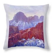 Towers Of The Virgin Valley Throw Pillow
