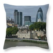 Towers Old And New Throw Pillow