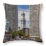 Towers On The Harbor Throw Pillow