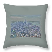 Towers To The Heavens Throw Pillow