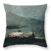 Town At Dusk Throw Pillow by Victor Hugo