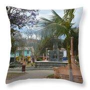 Town Center Of Parromos Throw Pillow